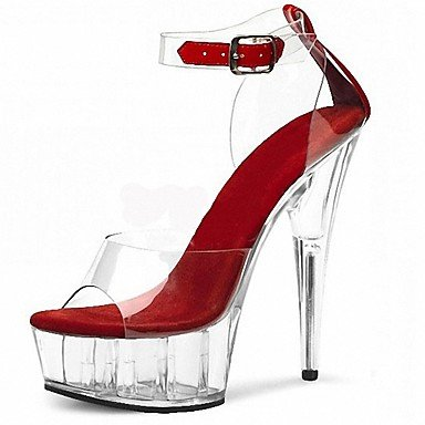 RTRY Donna Pantofole &Amp; Flip-Flops Ciabatte Pvc Summer Party &Amp; Sera Crystal Stiletto Heel Ruby Bianco Nero 5In &Amp; Oltre US6 / EU36 / UK4 / CN36