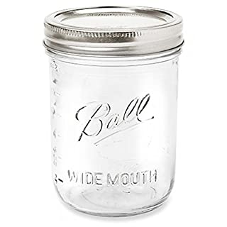 6 Pack BALL MASON Signature Preserving Jars 490ml WIDE Mouth with Recipe Insert