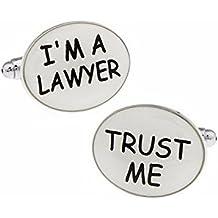 Hosaire 1 Par mancuernas de los hombres de la modaSoy abogado enlaces gemelos gemelos de la