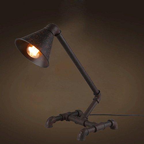 LOFAMI Retro Eisen Lampe, schäbig, Industrial Style, Edison Birne, Schlafzimmer Wohnzimmer Bar Lampe, e27 -