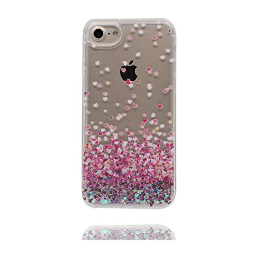 "iPhone 6S Coque, Skin Hard Clear étui iPhone 6 / 6S, Design Glitter Bling Sparkles Shinny Flowing iPhone 6 Case Shell 4.7"", résistant aux chocs et ring Support - Umbrella Fille # 5"