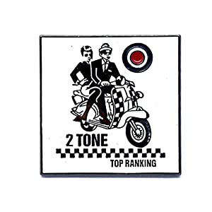 Patch Nation 2 Tone Top Ranking SKA Roller-Junge Metall Button Badge Pin Pins Anstecker Cosplay Brosche