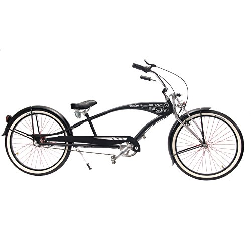 Micano Harlem - Bicicletta da uomo, stile californiano, da spiaggia, con ruota da 26