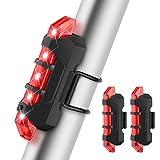 43e865672 BROTOU Luz LED Trasera Bicicleta, Luz Trasera para Bicicleta Recargable USB  Potente Impermeable,Luz
