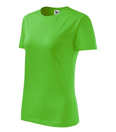 T-Shirt für Damen Shirt Basic (L, apfelgrün) (T-shirt Adler)