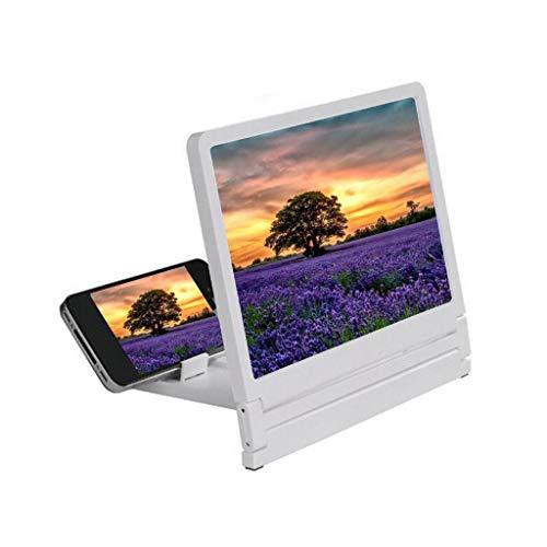 AASCREEN 3D Smartphone Bildschirm Lupe HD Filme Video Verstärker Projektion Schützend Auge Vergrößerung Glas mit Faltbar Handyhalter Halterungen zum Irgendein Handy Telefon, Black (Video-lupe)