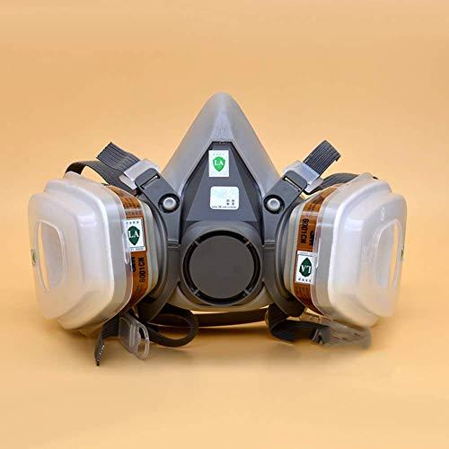 Dvfeel 7 En 1 Halb Maske Kostüm für 3M 6200 Atemschutzmaske Schutz- Autolack Neu Gas - Maske Kostüm Atemschutzmaske