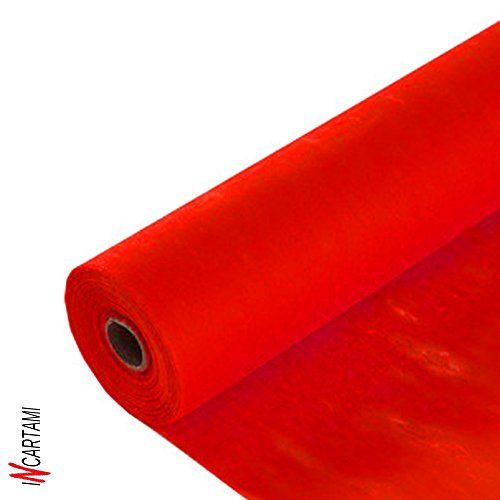 Incartami-italia rotolo tessuto tnt decorazioni tovaglie addobbi cerimonie bomboniere rosso