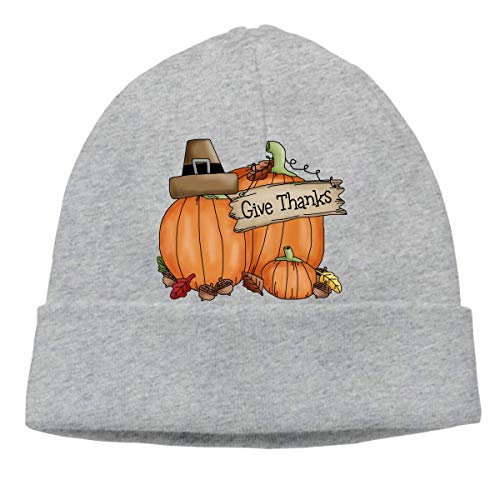Give Thanks Pumpkin Warm Stretchy Solid Daily Skull -