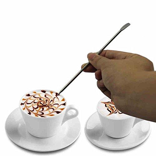 Aliciashouse Edelstahl-Kaffee Art Pen Fancy Nadel Latte Cappuccino-Maschine Cafe Werkzeug thumbnail