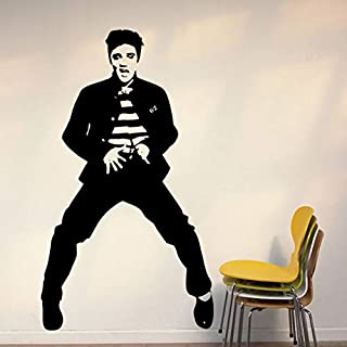 bewegliche elvis abbildung 100cm bedroom home aufkleber vinyl wand aufkleber art - deco - wandbild wandtattoo f-125