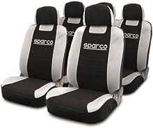 SPC SPC1014 - Juego De Fundas SPARCO Clasic, Color Negro / Gris