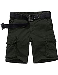 Jessie Kidden Men's Cotton Cargo Trousers Loose Hiking Multi-Pocket Pants with 8 Pockets #7533