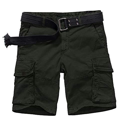 Jessie Kidden Herren Casual Relaxed Fit Militär Multi Pocket Cotton Plus Cargo Shorts Fat Big & Tall Pants - - 52 -