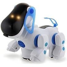 Perro Robot Electrónico Paseo Correr Cantar Bailar Color Azul Regalo