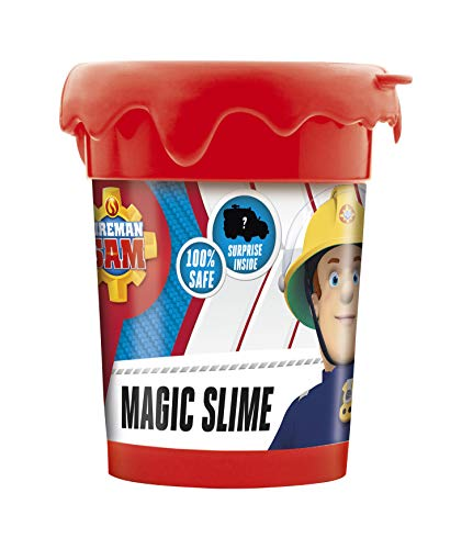 CRAZE Magic Slime Fireman Sam Mucus Magique Mucus d'enfants en boîte 150 g d'argile INCL. Figure de Pompier 16626