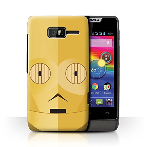 Stuff4® Hülle/Case für Motorola RAZR D1 / Gold C-Serie Muster/Protokoll Droide Kollektion -