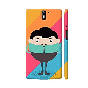 Colorpur OnePlus One Cover - Businessman Cartoon On Multicolor Case