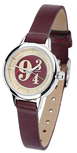 harry-potter-platform-9-3-4-montre-bracelet-bordeaux-cuir-acier-inoxydable