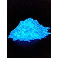 Polvo Luminoso Polyment Profi Premium - Muy brillante en el polvo de color oscuro luminiscente. Polvo de brillo UV auto-luminoso, pigmentos de resplandor residual, pigmentos de color luminiscentes, Brillan en la oscuridad (azul, 40gramos)