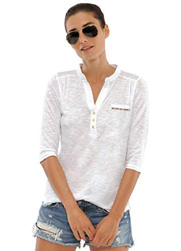 SPOOKS T Shirt für Damen Mädchen Kinder, Langarmshirt Tshirt Langarm - Melly Shirt White xs