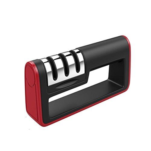 Weiye Messer für professionelle Küche Messerschärfer 3Stage Stahl Diamant Keramik beschichtet Küche Werkzeug zum Schärfen-Rutschfester Boden Chef Messer schärfen Kit 18.5x4x8cm - Küche Messer As Seen Tv On