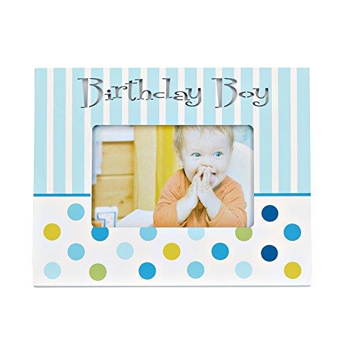 Preisvergleich Produktbild LED baby photo frame - LED Baby Fotorahmen - Baby Bilderrahmen mit LED Beleuchtung Schriftzug - Birthday Boy