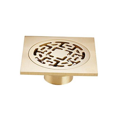 Auralum® Scarico Doccia Canaletta di drenaggio Sifone doccia Ottone 100 * 100 mm
