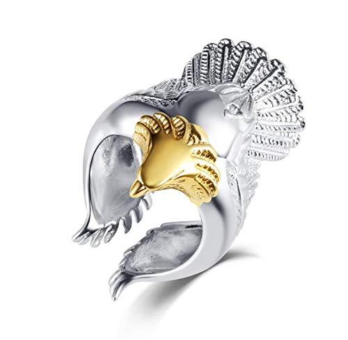 Gartendeko Kostüm - youjiu Anstecker Zubehör Dekorationen Ring Platin Kupfer Festival Kostüm Zubehör Schmuck Eagle Ring