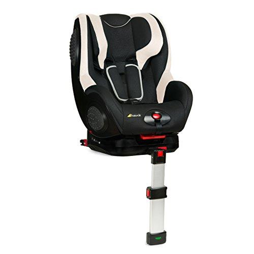 Hauck Guardfix Autositz, inkl. Isofix Base, leicht, flexibel verstellbar, ECE Gruppen 1 für Kinder von 8 Monate bis ca. 4 Jahren (9-18 kg) schwarz Beige (black/beige)