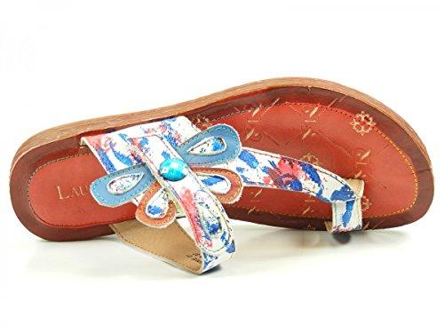 Laura Vita SL265-1A Brownie 01 Damen Pantolette bis 30mm Absatz Weiß (Weiß)