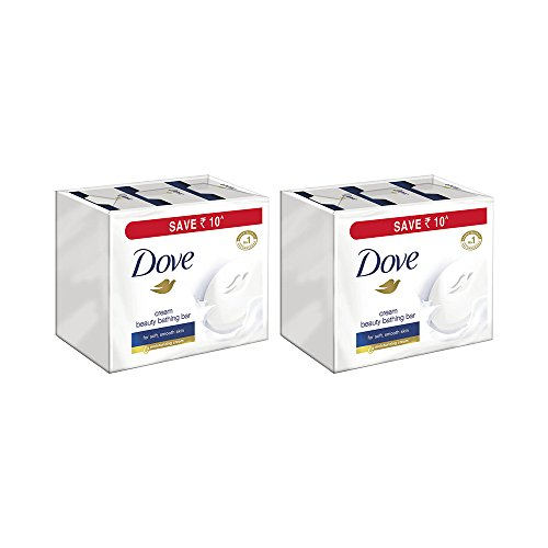 Dove Cream Beauty Bathing Bars, 3x100g (Pack of 2, Buy 2 at Rs 360)