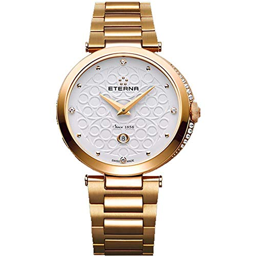 Eterna Grace Femme Diamant 32mm Saphire Quartz Montre 2566-60-61-1727