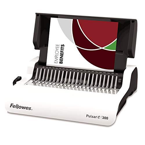 Fellowes 5620701 rilegatrice elettrica a dorsi plastici pulsar-e, capacità di rilegatura 300 fogli