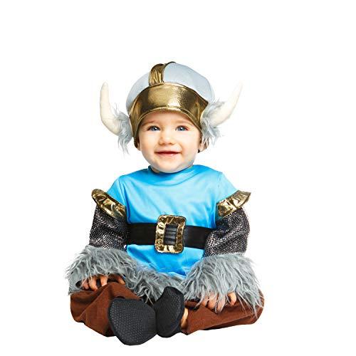 Kostüm Baby-Wikinger (viving Costumes) 1-2 años Schwarz ()