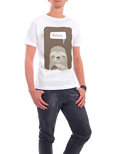 "Design T-Shirt Männer Continental Cotton ""Mañana"" - stylisches Shirt Tiere Natur Kindermotive Comic von Bastian Groscurth Weiß"