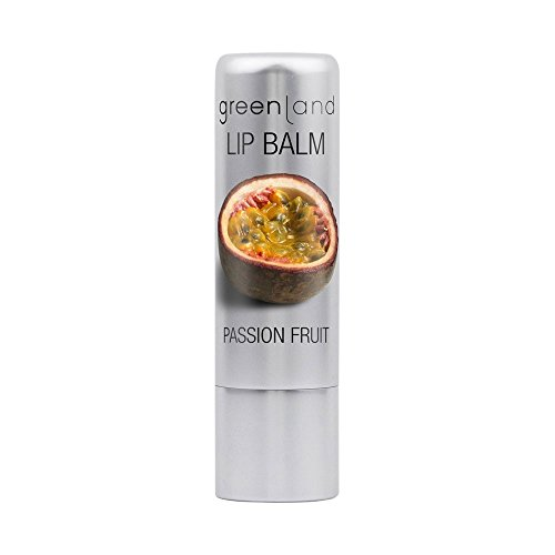Greenland Lippenpflege Passionsfrucht   Verwöhnendes Lippenbalsam mit Geschmack   Ideale Pflege nach einem Lippenpeeling   Mit Sheabutter & Bienenwachs - Lippenbalsam Pflege-ein