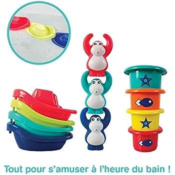 Octopus Tortue Bains Water Squirters Heure Du Bain Piscine Jeu De Leau Moulin /À Vent Waterwheel Jouet Pour 1-5 Ans Enfants B/éb/é Toddler Bain Jouets Ensemble