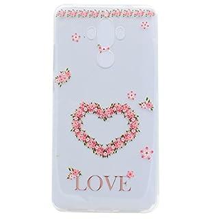 For HuaWei Mate 9 Phone Case Cover, HengJun Transparent totem TPU Gel Silicone Case for Smartphone HuaWei Mate 9 - Love