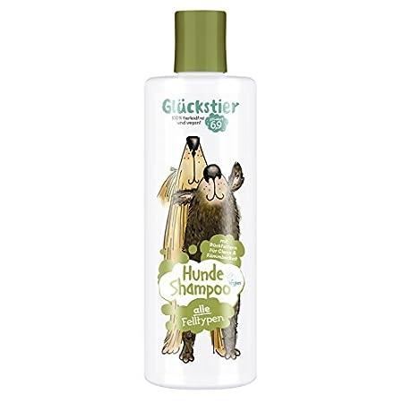 Glückstier Hundeshampoo, 250 ml, rückfettendes Shampoo für alle Hunderassen, für glänzendes Fell & bessere Kämmbarkeit…