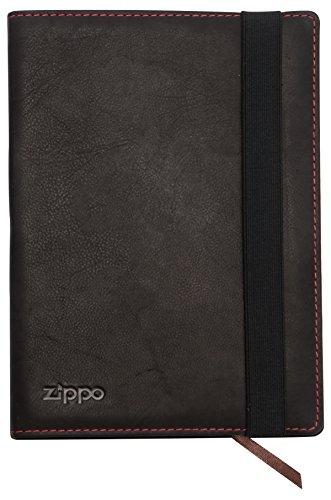 Zippo - Leder Notizbuch A5 Mokka, Carteras Hombre, Marrón (Mokka), 1.6x22x15 cm (B x H T)