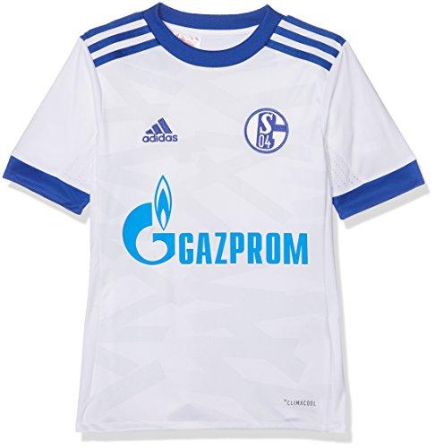 adidas Kinder Schalke 04 Auswärts Trikot, White/Bold Blue/Clear Grey, 140
