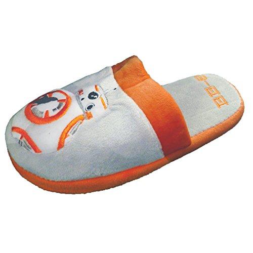 Feuillet de BB-8 adultes Mule officiel Star Wars sur chaussons Orange