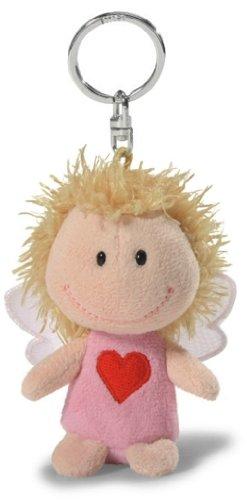 Nici 34554 - Schutzengel, Bin immer bei dir, Schlüsselanhänger, 7 cm, rosa
