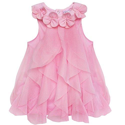 "YiZYiF Baby Kleinkind Spielanzug Overall Bodies Anzug Prinzessin "" Kleid-Look "" Strampler 74 80 86 92 Rosa 80-86"