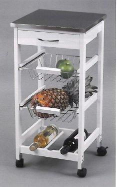 Kit Closet 7040028012 - Carro de cocina con cestas + botellero, inox