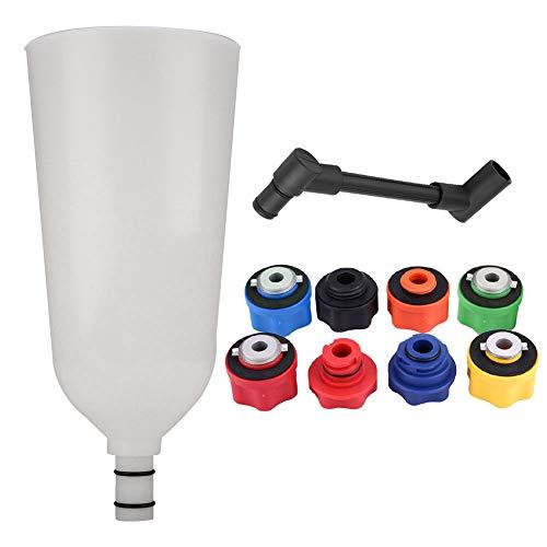 Gorgeri 10-tlg. Kfz-Motor-Öltrichter-Kit, Befüllungs-Kit für Öltrichter-Adapter mit drehbarem Verlängerungsrohr für Kfz-Transporter Kfz-Werkzeug (Kunststoff) -