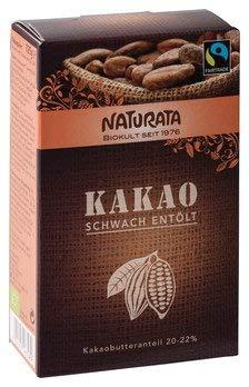 Naturata Bio Kakao, schwach entölt, 20-22{3760d838ac7e710f0dbbd07e060a808d3890e0e6718d2aedeeb898363465faec} (2 x 125 gr)