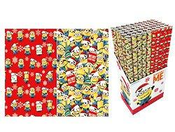 4 Rollen MINIONS Weihnachtsgeschenkpapier 2 Motive je 2x rot gelb – Weihnachtspapier Geschenk-Papier Weihnachten Minon 4x 2m