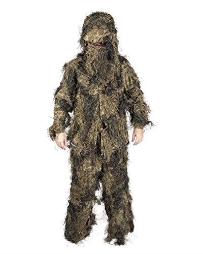 Mil-Tec Ghillie Suit Anti Fire 4PC. Basic woodl Gr.XL/XXL -